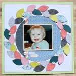 Colorful Wreath Scrapbook page by Tracy McLennon