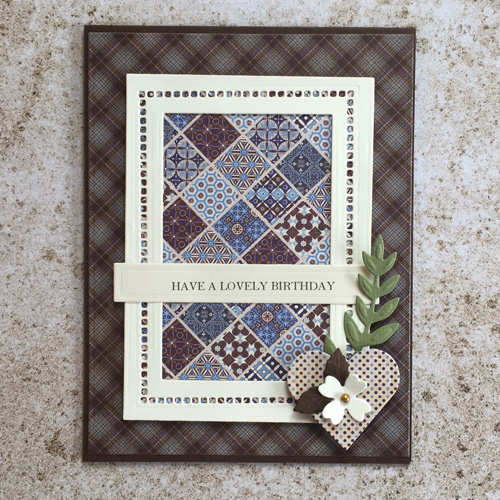 Plaid & masculine card tutorial by Christine Emberson