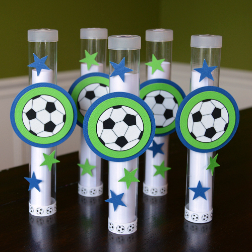 Soccer Birthday Party Invites using Scrapbook Adhesives by 3L