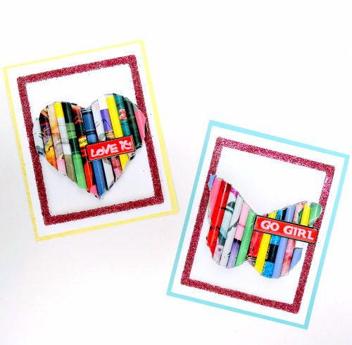 Rolled Magazine Cards by GDT Dana Tatar for Scrapbook Adhesives by 3L