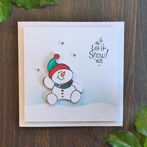 Stampendous Blog Hop and Giveaway - Day 2 Let It Snow Card by Christine Emberson