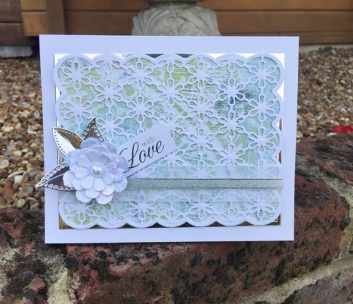 Use Adhesive Sheets on intricate die-cuts by Christine Emberson
