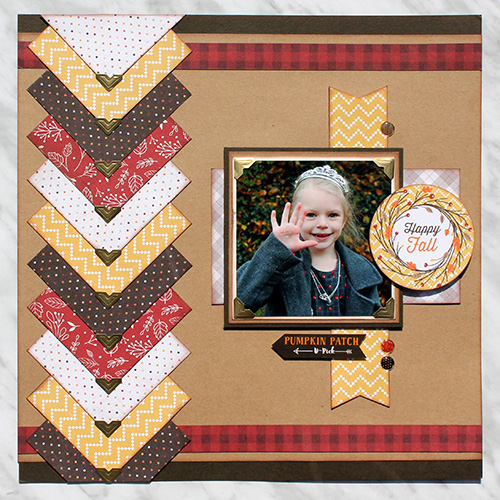 Fall Scrapbook page with Creative Photo Corners by Tracy McLennon