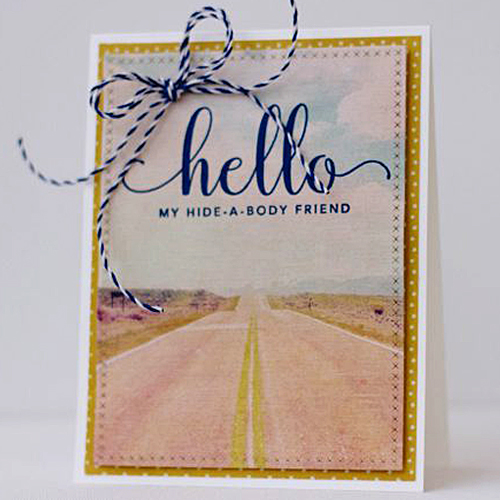 Simple + Quirky Hello Card by Latisha Yoast for Scrapbook Adhesives by 3L