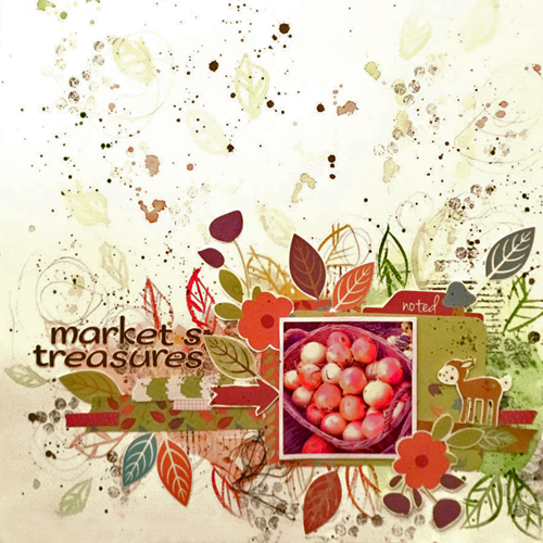 Market's Treasures Scrapbook Page by Lea Biccelli for Scrapbook Adhesives by 3L