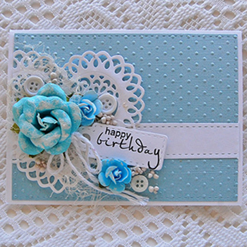 Shabby Chic BIrthday Card by Marilyn Rivera for Scrapbook Adhesives by 3L