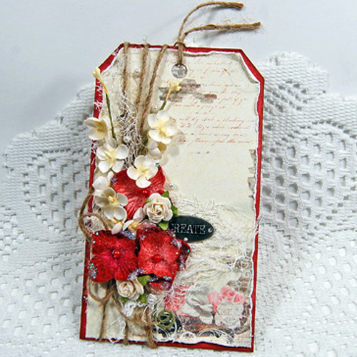 Layered Romantic Tag Tutorial by Marilyn Rivera for Scrapbook Adhesives by 3L Pic1