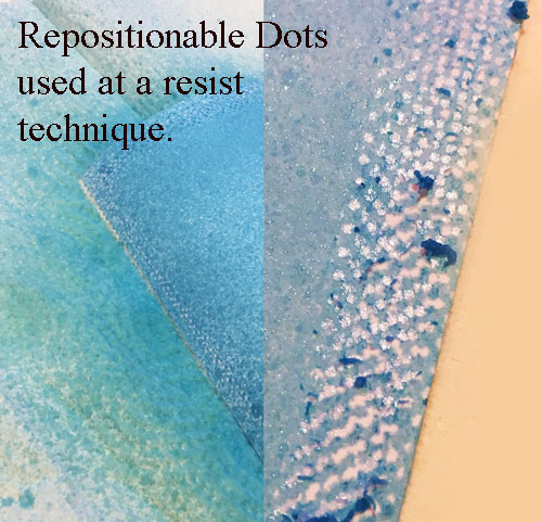 E-Z Dots Repositionable as a Resist Technique