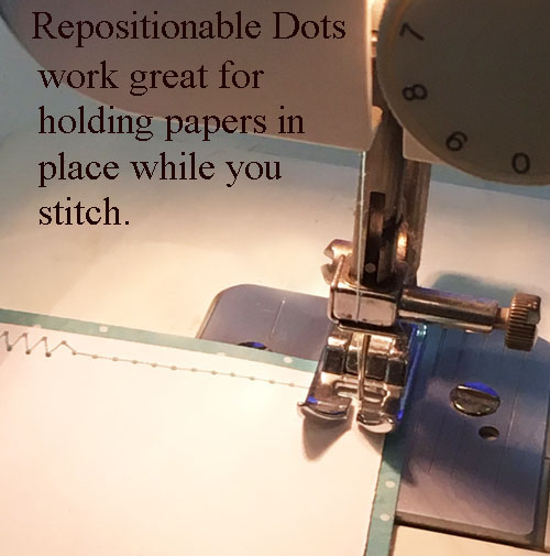 E-Z Dots Repositionable for paper sewing