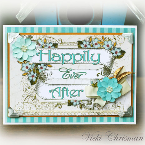 Happily Ever After Wedding Card by Vicki Chrisman for Scrapbook Adhesives by 3L