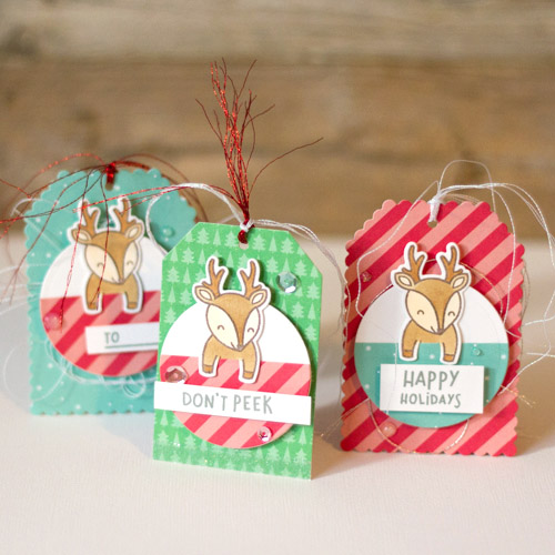 Christmas Deer tags by AJ Otto