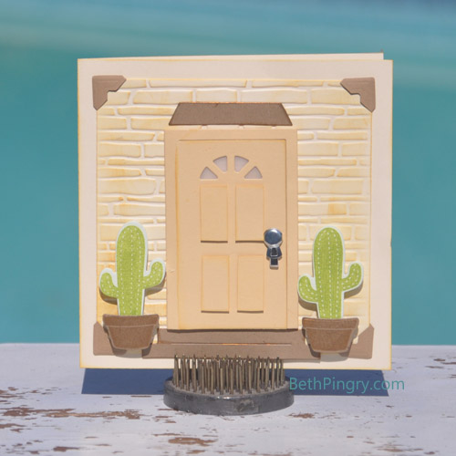 Door Card by Beth Pingry for Lawn Fawn & Scrapbook Adhesives by 3L