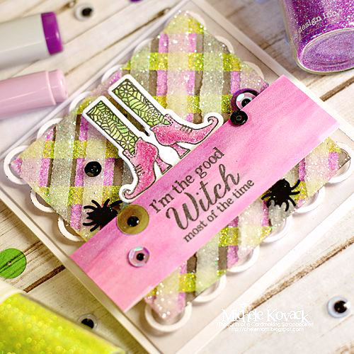 Halloween Plaid Card Tutorial by Michele Kovack for Scrapbook Adhesives by 3L