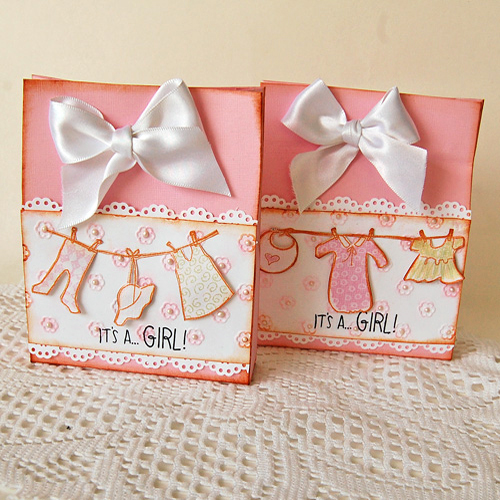 Sweet Baby Shower Party Favor Bags by Marilyn Rivera for Scrapbook Adhesives by 3L