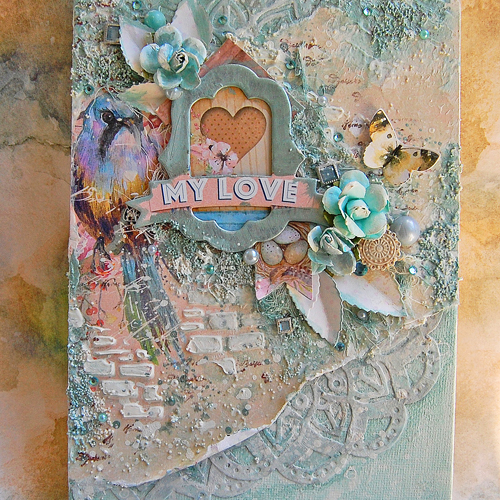 Creating Mixed Media Canvas by Marilyn Rivera for Scrapbook Adhesives by 3L