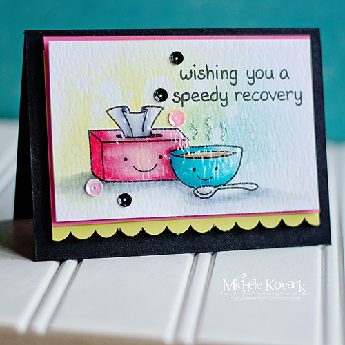 Lawn Fawn Blog Hop and Giveaway - Day 5 Speedy Recovery Card by Michele Kovack