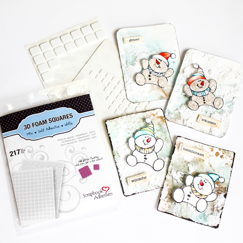 Stampendous Blog Hop and Giveaway - Day 5 Playful Snowman Cards by Stephanie Schutze