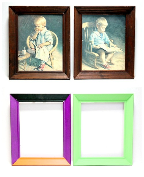 Upcycled Painted Frames for Halloween by Dana Tatar for Scrapbook Adhesives by 3L