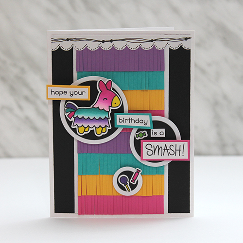 Lawn Fawn Blog Hop and Giveaway - Day 4 Fringed Birthday Card by Tracy McLennon