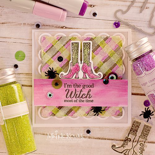 Halloween Plaid with Premium Double-Sided Tapes 2 by Michele Kovack for Scrapbook Adhesives by 3L