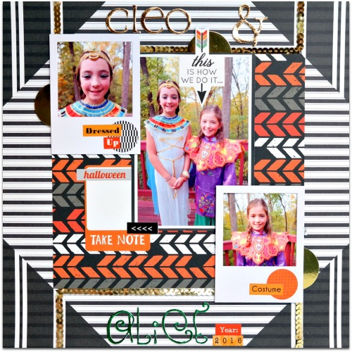 Halloween Layout with DIY 3D Foam Foiled Letters by Dana Tatar