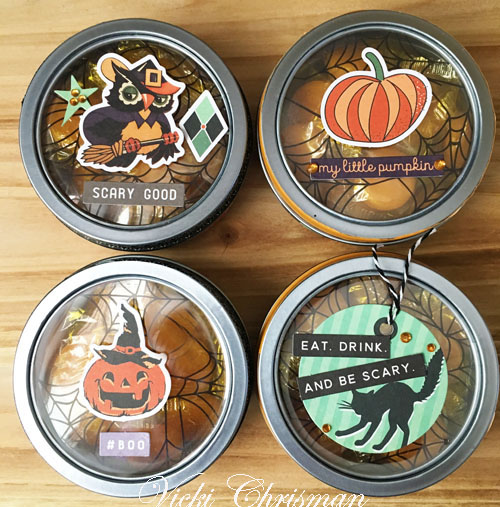 Spellbound Halloween Treat Tins by Vicki Chrisman for Scrapbook Adhesives by 3L