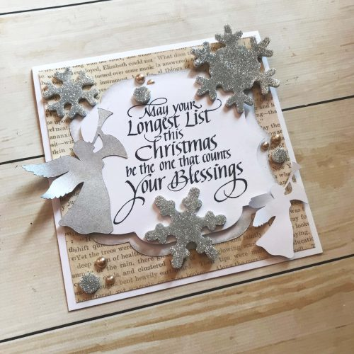 Holiday Cards and QuietFire Designs Blog Hop and Giveaway - Day 3 Count Your Blessings by Latrice Murphy for Scrapbook Adhesives by 3L