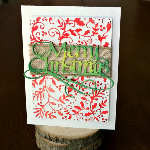 Holiday Cards and QuietFire Designs Blog Hop and Giveaway - Day 3 Merry Christmas Card by Dana Tatar for Scrapbook Adhesives by 3L