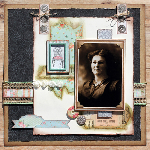 Heritage Layout Using Crafty Power Tape by Tracy McLennon for Scrapbook Adhesives by 3L
