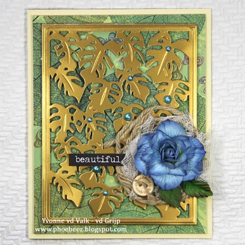 Elegant Flower Card with Dimensional Effect by Yvonne van de Grijp for Scrapbook Adhesives by 3L
