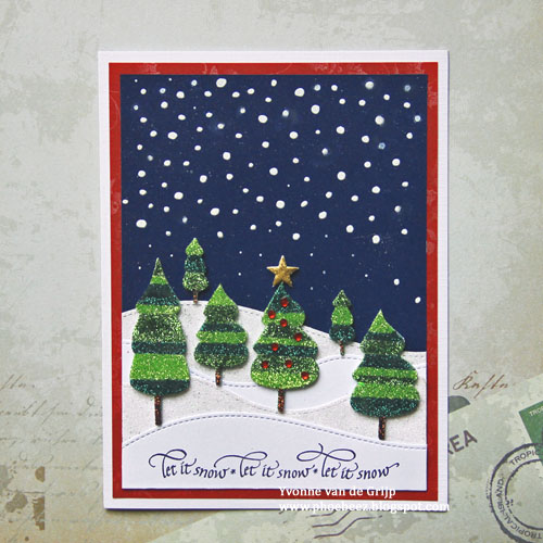 Let it Snow: Glittered 3D Foam Holiday Card by Yvonne van de Grijp for Scrapbook Adhesives by 3L