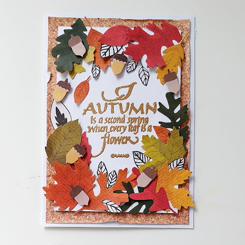 Seasonal Cards on Quietfire Design Blog Hop and Giveaway - Day 5 Autumn Leaf Card by Jana Maiwald-McCarthy for Scrapbook Adhesives by 3L