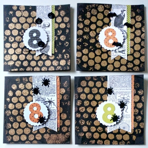 Happy Halloween Invite Cards with Crafty Foam Tape by Jana Maiwald-McCarthy for Scrapbook Adhesives by 3L
