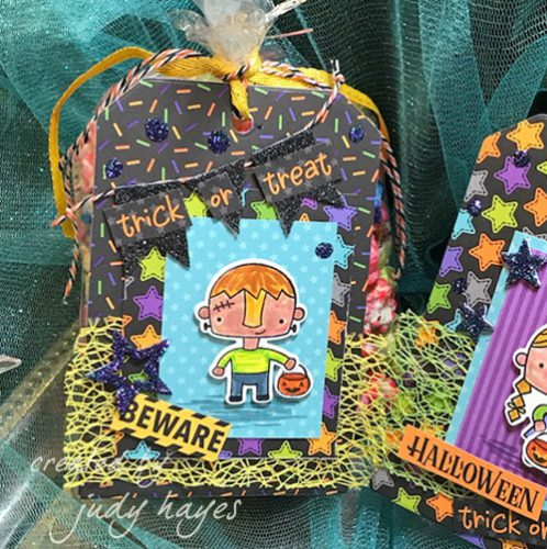 Cute Halloween Tags with 3D Foam Squares and More by Judy Hayes for Scrapbook Adhesives by 3L
