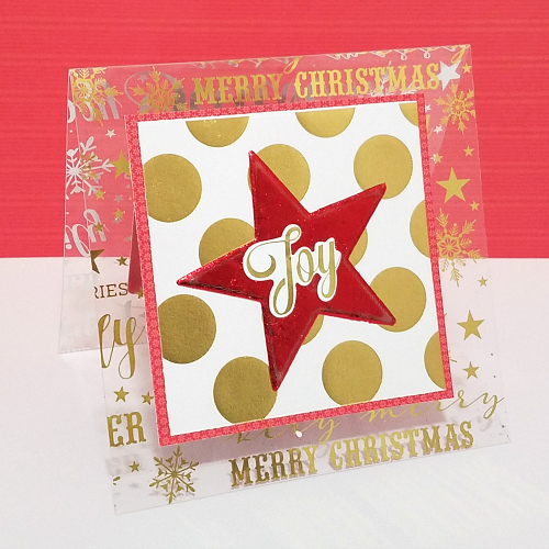 Christmas Card with 3D Foam Creative Embellishment Kit by Christine Meyer for Scrapbook Adhesives by 3L