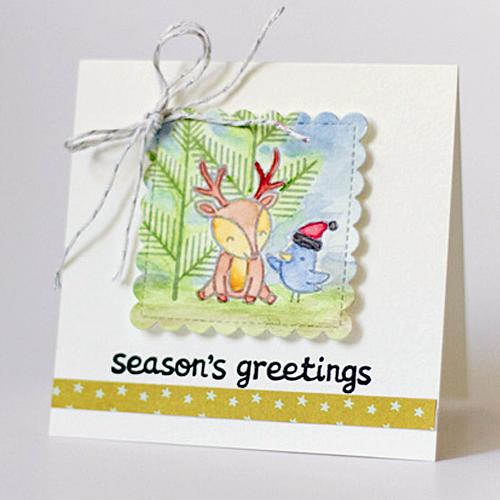 Season's Greetings Card by Latisha Yoast