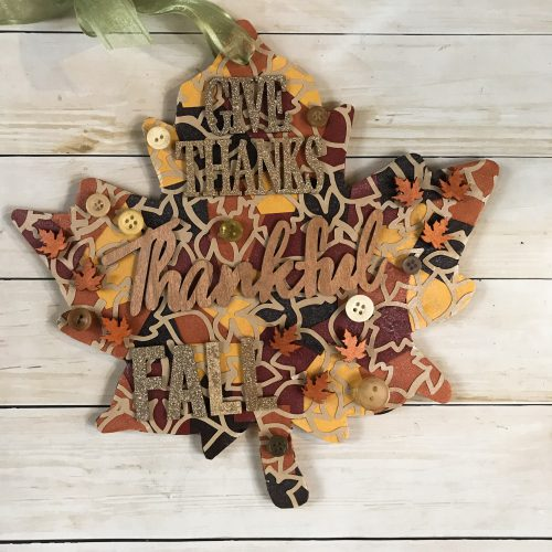Fall Leaf Home Decor with Dual Tip Glue Pen by Latrice Murphy for Scrapbook Adhesives by 3L