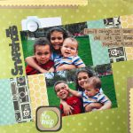 Snapshots Scrapbook Page by Latrice Murphy
