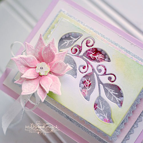 Poinsettia Shaker Card by Michele Kovack for Scrapbook Adhesives by 3L