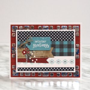 Holiday Card with Foil by Tracy McLennon