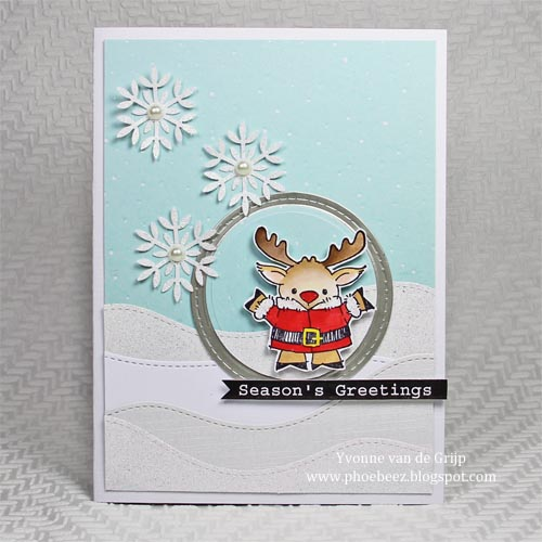 Christmas Card using Adhesive Layering with Scrapbook Adhesives™ by 3L, byYvonne van de Grijp