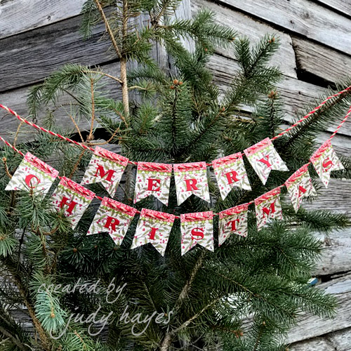 Merry Christmas Banner with Adhesive Sheets by Judy Hayes for Scrapbook Adhesives by 3L