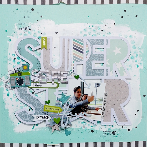 Selfie Star layout by Jana Maiwald-McCarthy
