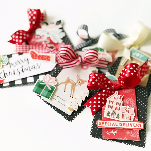 Layered Christmas Tags Tutorial by Latisha Yoast for Scrapbook Adhesives by 3L