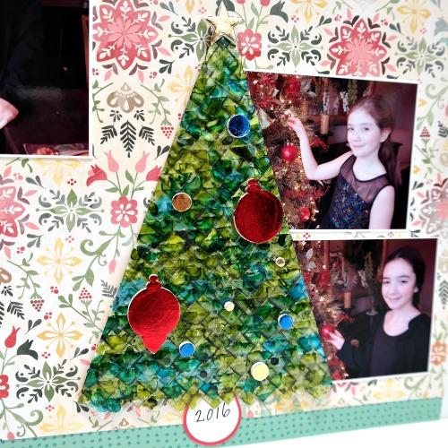Alcohol Inked Clear Photo Corners Christmas Tree Embellishment by Dana Tatar