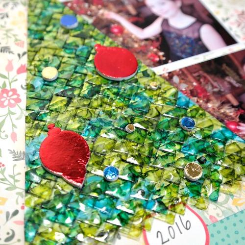 3D Foam Holiday Embellishment Kit Foiled Ornaments by Dana Tatar