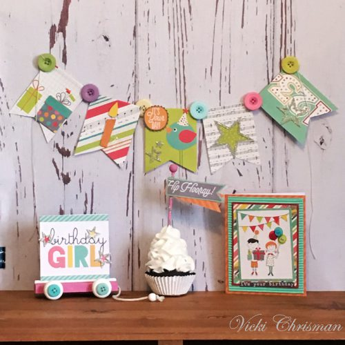 Child's Party Decor Ensemble using 3D Foam Shapes and Adhesive Dots by Vicki Chrisman for Scrapbook Adhesives by 3L