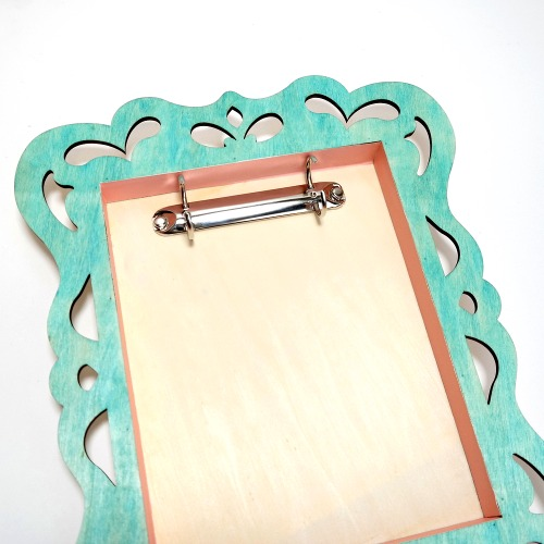 How to add a binder ring to a shadow box frame by Dana Tatar
