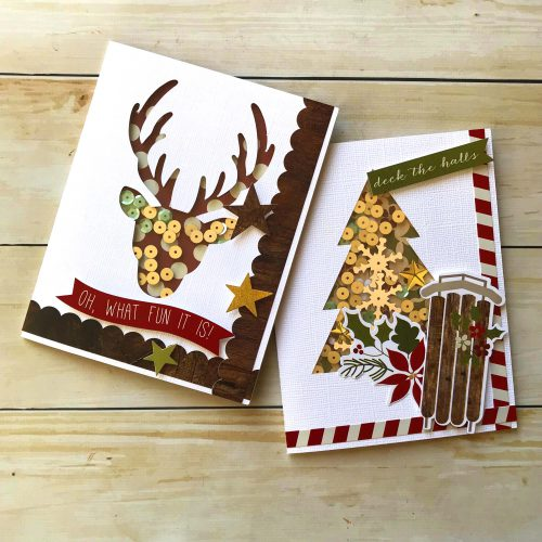 Fun Holiday Shaker Card Duo with Crafty Foam Tape by Latrice Murphy for Scrapbook Adhesives by 3L