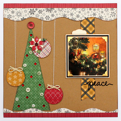 Peaceful Christmas Layout by Tracy McLennon for Scrapbook Adhesives by 3L